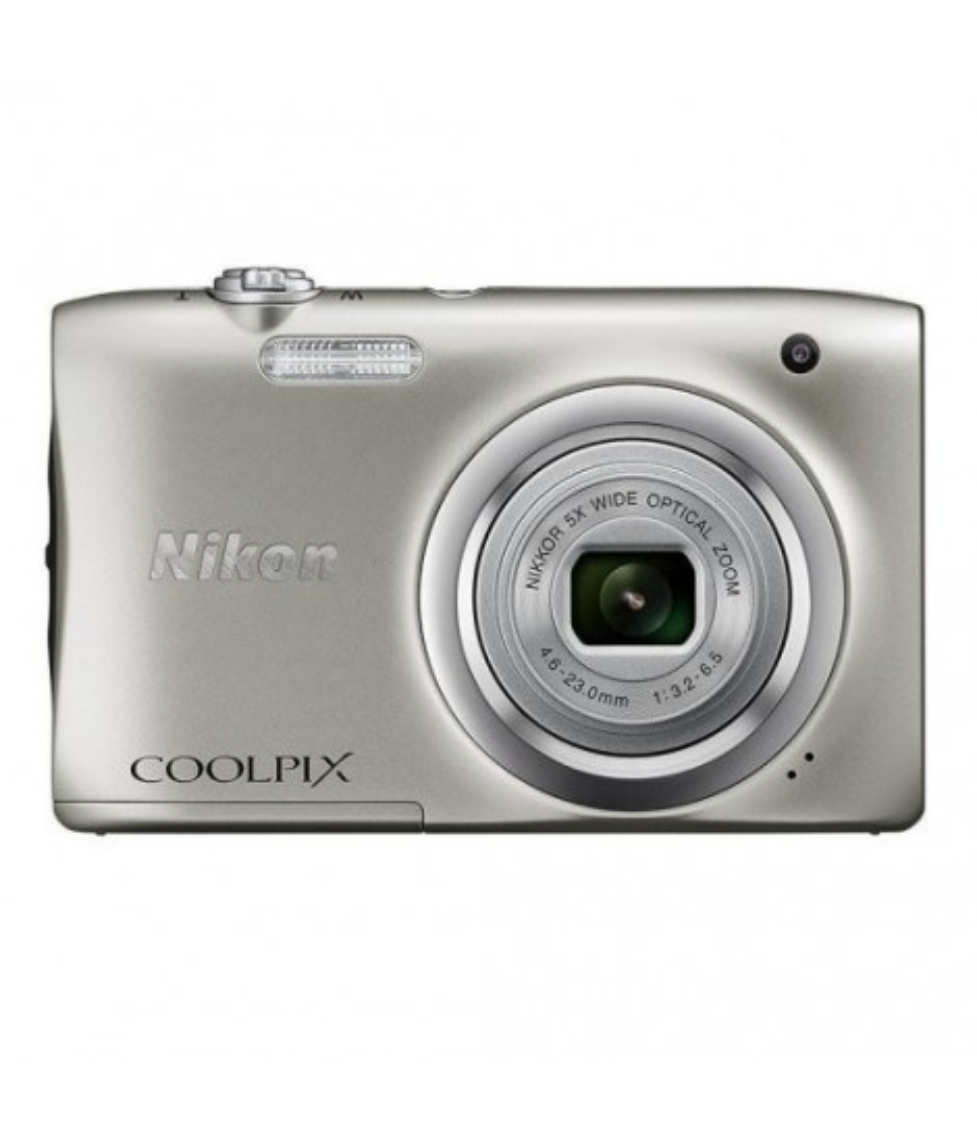 Nikon Coolpix A100 20.1MP Plata + Estuche + Palo Selfie