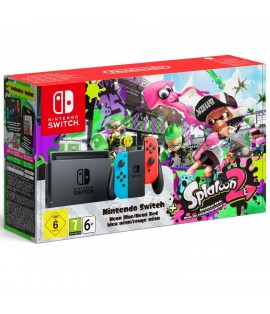 Nintendo Switch Azul Neón/Rojo Neón + Splatoon 2 (versión digital)